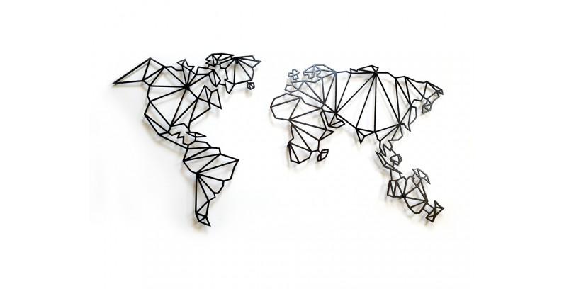 decolicious.pl - Piękne stalowe mapy świata