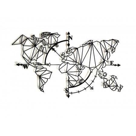 "Dekoracja scienna ""Mapa Geo Compass 3D"""