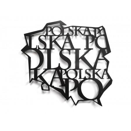 Konturowa mapa POLSKI 3D