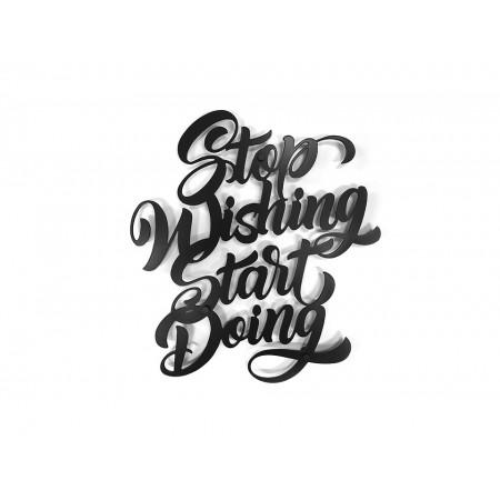 """Dekoracja ścienna Napis 3D """"START DOING"""""""