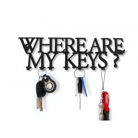 "Wieszak na klucze ""Where are my keys"""