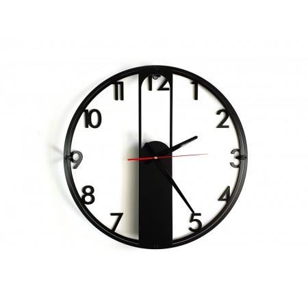 """Zegar loftowy """"EVRA digits"""" czarny"""